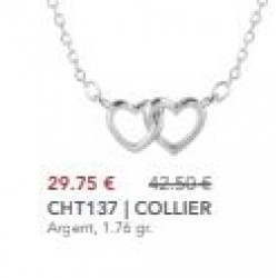 """Collier """" Love  Two """""""