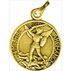 Médaille St Michel - Métal Doré