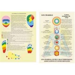 Planche des Chakras et leurs caractéristiques - A4