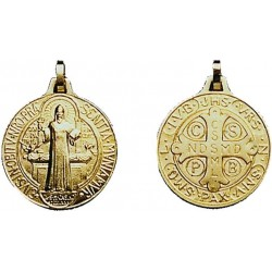 Médaille St Benoît - Métal Doré
