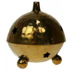 Brûle-encens laiton - forme boule