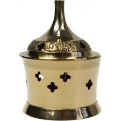 Brûle-encens laiton - forme cylindre