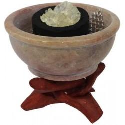 Brûle-encens pierre forme chaudron