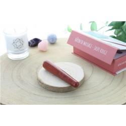 Bâton de Massage Arrondi en Jaspe Rouge
