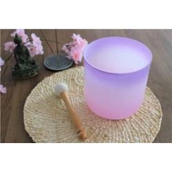Bol chantant en Cristal Candy Violet et Rose Diamètre 15 cm