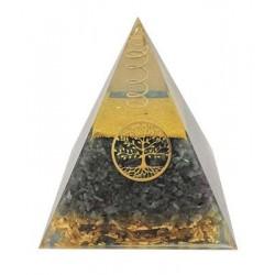 Pyramide Orgonite Labradorite Arbre de vie