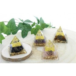 Mini Pyramide Orgonite Pierre naturelle