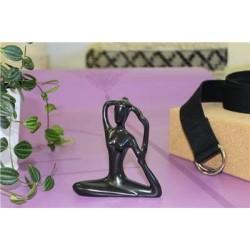 Statuette en Porcelaine Posture de la Sirène Noir mat 10 cm
